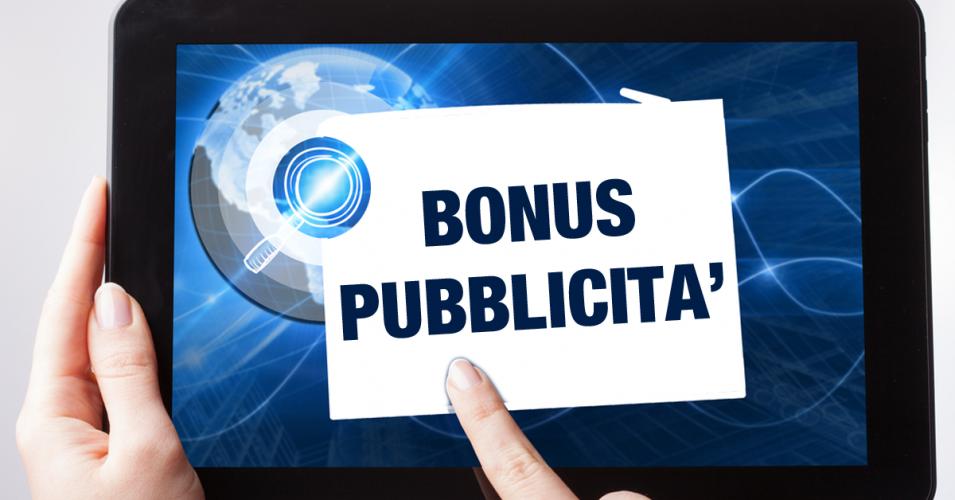 Bonus pubblicità: ultimi aggiornamenti 2018